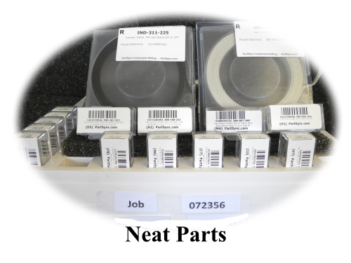 Well Organized Electronic Parts in Custom Plastic Containers